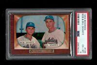 1955 Bowman BB Card #139 Bob & Bill Shantz Kansas City Athletics PSA EX-MT 6 !!!