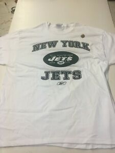 NEW YORK JETS ADULT WHITE REEBOK TEE SHIRT NEW & OFFICIALLY LICENSED X-LARGE