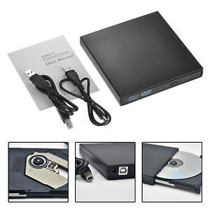 Slim USB 2.0 External CD-RW DVD ROM Drive Writer Reader Burner For Laptop PC UK