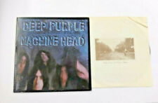 """Deep Purple Machine Head LP With Poster Rock/Blues 1972 """"Smoke On The Water"""""""
