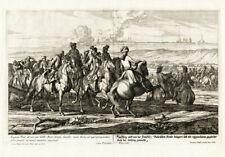 4 Antique Prints-BATTLE-1703-AUGSBURG-GERMANY-Wolff