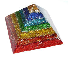 Orgone orgonite pyramid - EMF protection,chakra,Tesla,quartz + free orgone gift