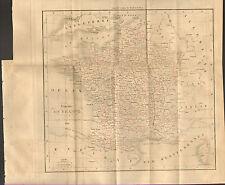 CARTE DUFOUR ROYAUME DE FRANCE EN 1828 ASIA FRENCH KINGDOM OLD MAP 1830