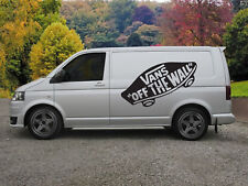 "Enorme Vans 'Off the Wall ""van Vinilo Pegatina Calcomanía X 2"