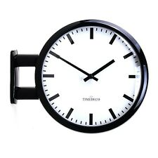 Modern Art Design Double Sided Wall Clock Station Clock Home Decor - MDCLineBK