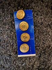 """New listing Jhb Imports Vintage Buttons Equestrian Horse Head 5/8"""" Metal Buttons"""
