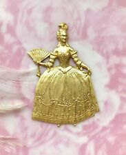 Brass Marie Antoinette French Queen Woman Stampings ~ Jewelry Finding (D-045)