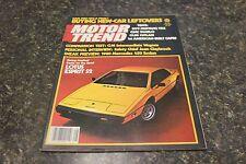 MOTOR TREND LOTUS ESPRIT S2 AUGUST 1978 VOL.30 #8 9248-1 [BOX F] #878