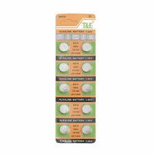 10PCS AG10/LR44/LR1130 Button Coin Cell Alkaline Button Singel use Batteries