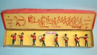 CRESCENT TOYS ENGLAND vintage 1950s 8 piece GRENADIER GUARDS BAND Boxed