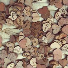100 x en bois love hearts-craft scrapbook carte embellissements mariage charms