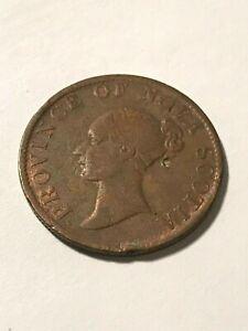 1843 Nova Scotia 1/2 Penny Token F+ #16395