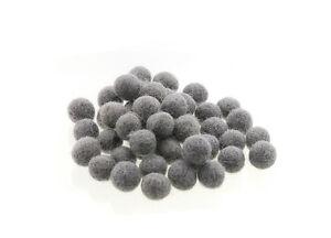 10 Perles Boules de Feutre Feutrine naturelle Ø entre 1 et 1.5 Cm Nepal GS