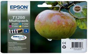 GENUINE EPSON INK CARTRIDGE T1291-T1294 ORIGINAL T1295