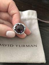 David Yurman Infinity Ring with Amethyst 11mm Size 6,5