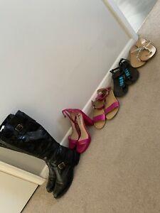 Ladies Shoe Bundle Size 5 Topshop Nine West Leather Boots Sandals Heels