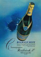 J- Publicité Advertising 1968 Le Champagne Diamant bleu Heidsieck