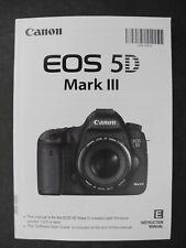 #2 Canon EOS 5D Mark III Digital Camera Instruction Manual / User Guide