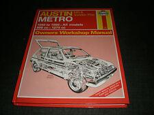 Haynes Service and Repair Manual Austin & MG Metro 1980 to May 1990 up to G reg