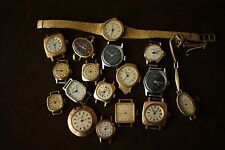 Lot of 17 Vintage  Glasshutte Ladies Wristwatches 17 Jewels Made in GDR/DDR