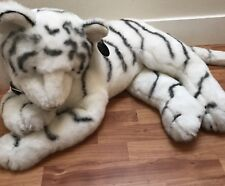 "Plush Toy White Bengal Tiger JUMBO-SIZE 36"" Stuffed Animal Pillow"