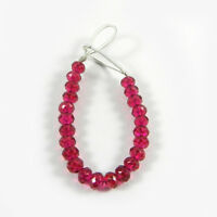Fuchsia Chalcedony 4mm Round Faceted 3.5 Inch Handmade Beads Jewelry ER5638