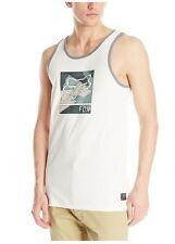 Fox Racing Mens Guys Grisler Vntage White Tank Top Sleeveless Shirt S Small