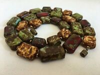 Vintage Scottish Glass Agate Chunky Beads Graduated Murano Venetian 21in Country