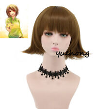 Bob Wig Undertale Chara Wig Short Brown Wigs For Women Cosplay Costume Wigs