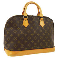 LOUIS VUITTON ALMA HAND BAG PURSE MONOGRAM CANVAS M51130 VINTAGE VI0973 A50858