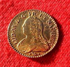 RARE MONNAIE LOUIS D OR DIT AUX LUNETTES LOUIS XV 1731 L BAYONNE TIRAGE 6000EX