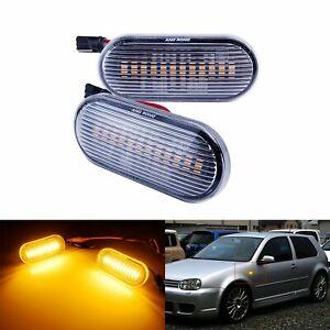 Clair LED Feux Clignotant Répétiteur Jaune Pour VW Polo Golf III VI Amarok T5 Up