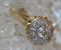 Ring in 585 er Gold 14K mit Brillanten Diamanten 0,22 ct. Gr. 62