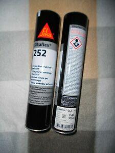 2 x Sikaflex 252 300ml schwarz  Kleber Karosseriekleber Konstruktionsklebstoff