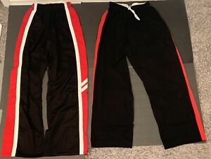 2 Martial Arts Red/Black Pants Size 4