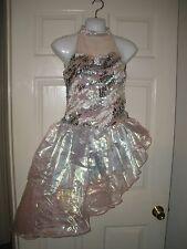 #111 Dance costume Dress gray M Recital tap Ballet Unitard boy shorts Weissman