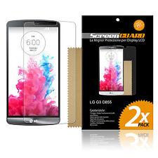 2 PELLICOLE per LG G3 D855 D850 PROTEGGI SALVA DISPLAY PROTETTIVA LCD SCHERMO