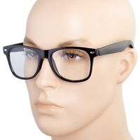 Fashion Retro Unisex men Women Clear Lens Nerd Geek Glasses Eyewear
