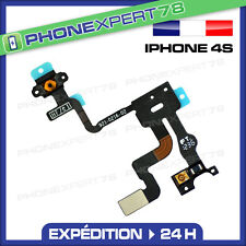 NAPPE SONDE CAPTEUR DE PROXIMITE + BOUTON POWER ON/OFF POUR IPHONE 4S