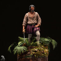 Spanish Conquistador in Mexico 54mm 1/32 Tin Painted Toy Soldier Miniature | Art