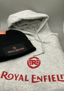Royal Enfield Hoodie And Beanie Free Postage Gift