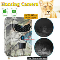 120° Infrared Night Vision Hunting Camera HD 1080P Trail Security Cam IR 12MP