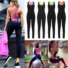 Palestra Fitness Yoga Pantaloni Leggings Vestito Tuta Donna Tutina pagliaccetto