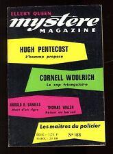 MYSTERE-MAGAZINE n°188 Cornell WOOLRICH  Fredric BROWN  R. BANKS sept 1963 OPTA