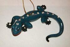 December Diamonds Blue Gecko Zoology Christmas Ornament New