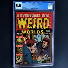 ADVENTURES INTO WEIRD WORLDS #6 (1952) 💥 CGC 5.5 💥 HTF Bill Everett Cvr! Atlas