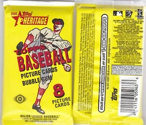2005 Topps Heritage: TWO(2) Packs.