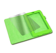 NEW CASE COVER+SCREEN PROTECTOR STAND FLIP PU LEATHER GREEN GOOGLE ASUS NEXUS 7""