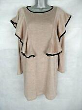 SISTER JANE Jumper Dress Size Small Angora Cotton Blend Ruffle
