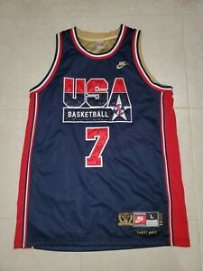 Nike 1992 USA Olympics Dream Team Larry Bird Jersey Mens L Sewn Jordan Mint